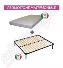rete e materasso matrimoniale offerte offerta letto matrimoniale con rete fissa a doghe materasso ortop