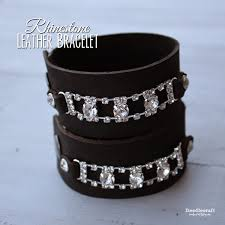 leather rhinestone bracelet images Doodlecraft leather work projects JPG