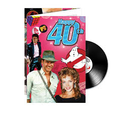 happy 40th birthday cd card i just love it