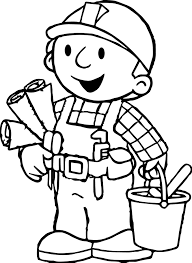 bob the builder coloring page wecoloringpage