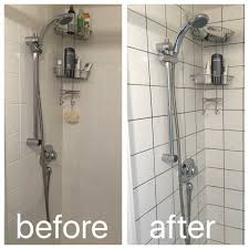 How To Regrout Bathroom Tile Regrouting With Dark Grey Grout To Modernise A Boring Shower