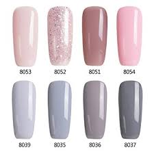 light brown nail polish amazon com modelones gel nail polish set 8 tiny bottles soak