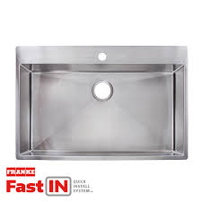 Kitchen Sinks Stainless Steel Shop Franke Fast In 33 5 In X 22 5 In Single Basin Stainless Steel