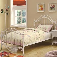 bella twin full youth bed in white metal empire furniture home