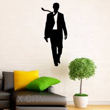 home interior wall art aliexpress com buy james bond stickers 007 vinyl decal cool