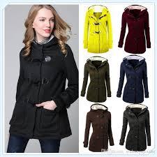 women u0027s fashion jacket double breasted wool casual coat hoodies