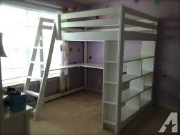 full size wood loft bed design corner full size wood loft bed