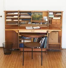 one mid century desk interpreted by two owners improvised life