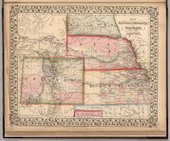 Map Of Sd Map Of Kansas Nebraska And Colorado South Dakota David Rumsey