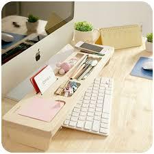bureau personnalisé mode en bois de bureau organisateur boîte de rangement du clavier
