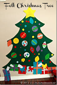 Funny Decorations For Christmas Tree by 25 Best Felt Christmas Trees Ideas On Pinterest Felt Christmas