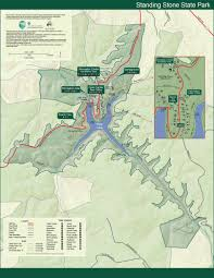 Tennessee On A Map by Park Trail Maps U2014 Tennessee State Parks