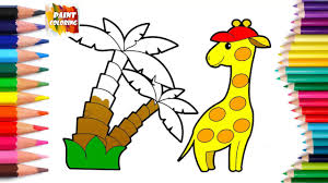 cute baby animals coloring page giraffe for kids animal coloring