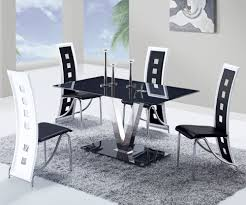 global d551dt black glass dining table w stainless steel legs availability in stock