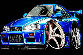 nissan skyline gt r r34 caricatura vehicle pinterest nissan