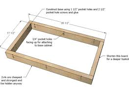 Kitchen Cabinet Frames Only Building A Base Cabinet For The Kitchen Everdayentropy Com