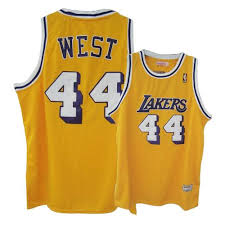 men u0027s jerry west authentic gold mitchell and ness jersey small
