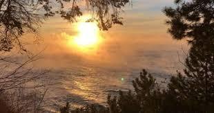lake superior sea smoke sea smoke rises from lake superior in frigid minnesota