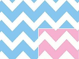 pink wrapping paper reversible pink or blue chevron stripe baby girl or