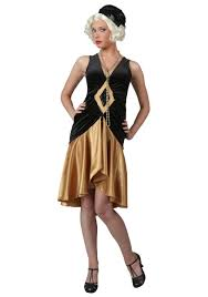gold flapper dance costumes