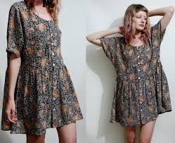 90s dress 90s floral babydoll dress naf dresses