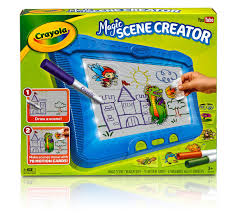 discovery toy drawing light designer crayola magic scene creator creative activity toy turn pictures