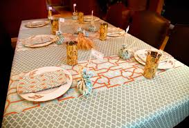 thanksgiving tablecloth with arts crafts style panels sew4home