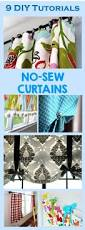 Cherry Kitchen Curtains by 9 Diy Tutorials How To Make No Sew Curtains Diy Tutorial Cheer