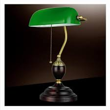 retro table lights emerald green glass power bank office desk lamp