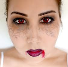 halloween vampire contacts easy halloween vampire makeup look using only
