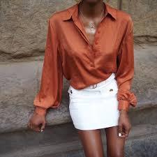 blouse tumbler silk blouse smart casual blouse