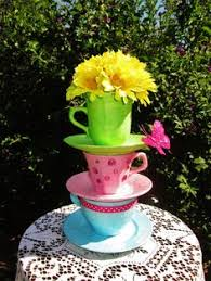 Mad Hatter Tea Party Centerpieces by Pink U0026 Blue Alice In Wonderland Wedding Pink Blue Pink And Blue