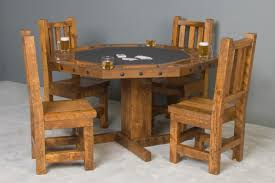 barnwood poker table barnwood dining and card table