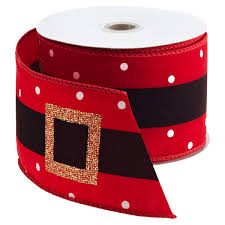 wired ribbon santa s belt wired ribbon the container store