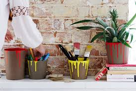 creative diy personalize your plant pots with colorful paint
