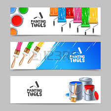 Interior Painting Tools 813 Painting And Decorating Interior Design Cliparts Stock Vector