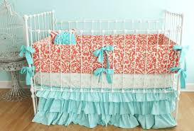 Navy And Coral Baby Bedding Cribs Surprising Grey Teal Crib Bedding Sensational Teal And