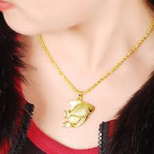 design necklace charm images 2017 new design cute fish pendant pattern 24 gold colour chain jpg
