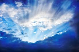 sun rays the clouds bright sky stock image image of
