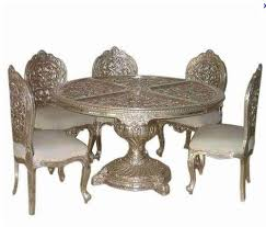 Indian Dining Chairs Royal Indian Dining Table Table 6 Seater Silver