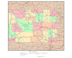 map of wyoming maps of wyoming state collection of detailed maps of wyoming