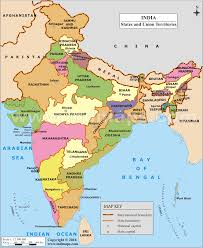 state map geography maps of india states and capitals of india
