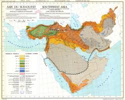 map asie southwest asia potential population supporting capacities