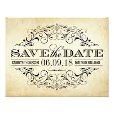 Save The Date Wedding Invitations Vintage Save The Date Cards