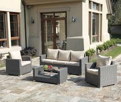 4pcs Simple Style Sofa Set Poundex Lizkona 434 4 Pcs Outdoor Patio Sofa Set
