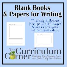 blank kindergarten writing paper 6 best images of free printable blank book blank book cover clip free printable blank books