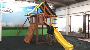 How To Build A Wooden Playset Eastern Jungle Gym U0027s Dream Wooden Playset Youtube
