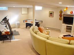 interior interior luxurious modern basement living room