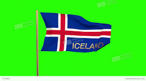 Flag Iceland Iceland Flag With Title Waving In The Wind Looping Sun Rises
