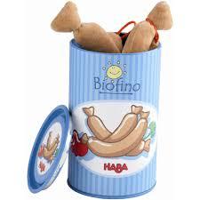 cuisine haba haba biofino canned hotdog sausages fabric play food toyjeanius